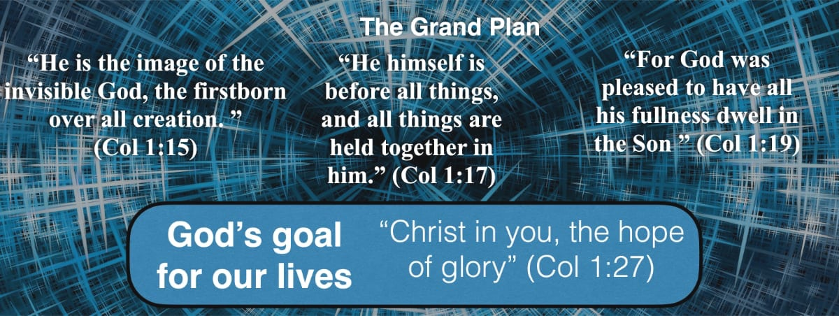 Christ in you is God's goal for our lives.