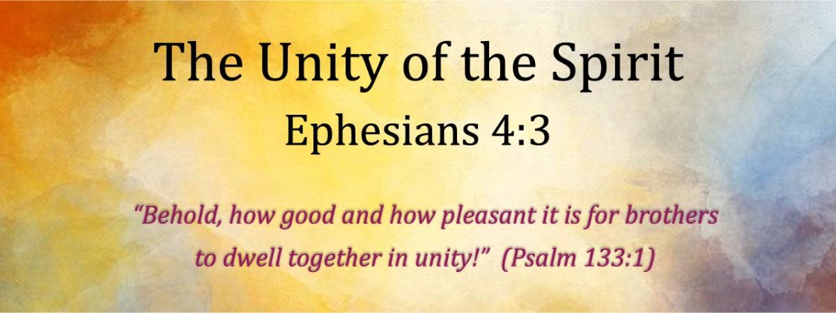 Ephesians 4:3 The Unity of the Spirit