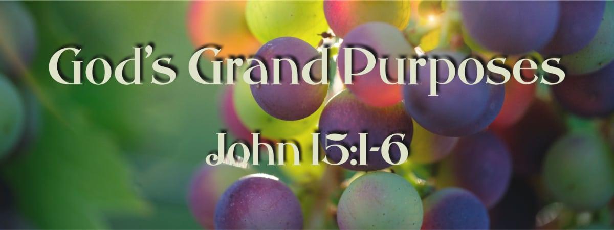 John 15:1-3 God's Grand Purposes for our Christian Lives
