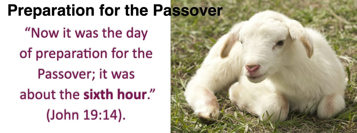 Jesus is the Passover Lamb, dying just at the time they killed the lamb