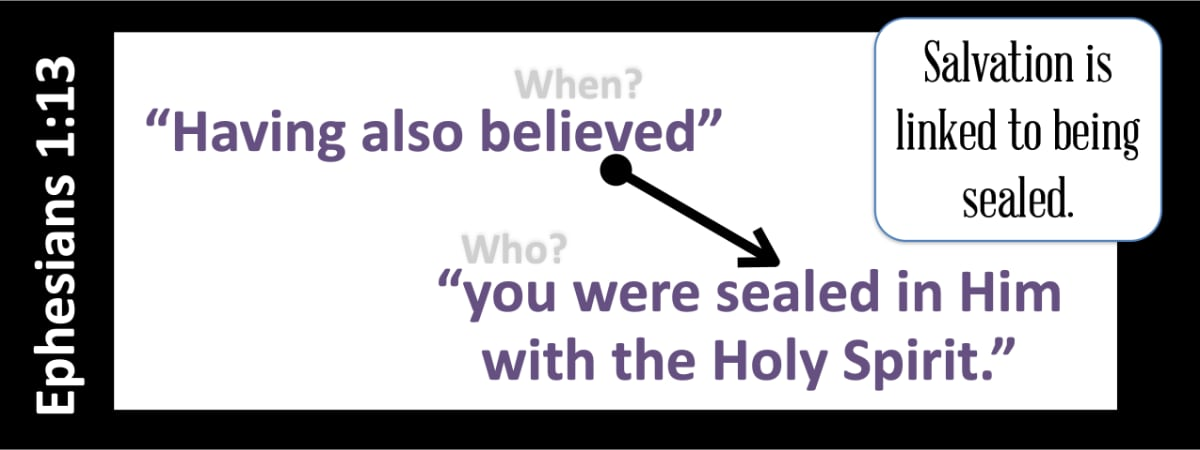 Ephesians 1:13 Sealed with the Spirit - Bucknell