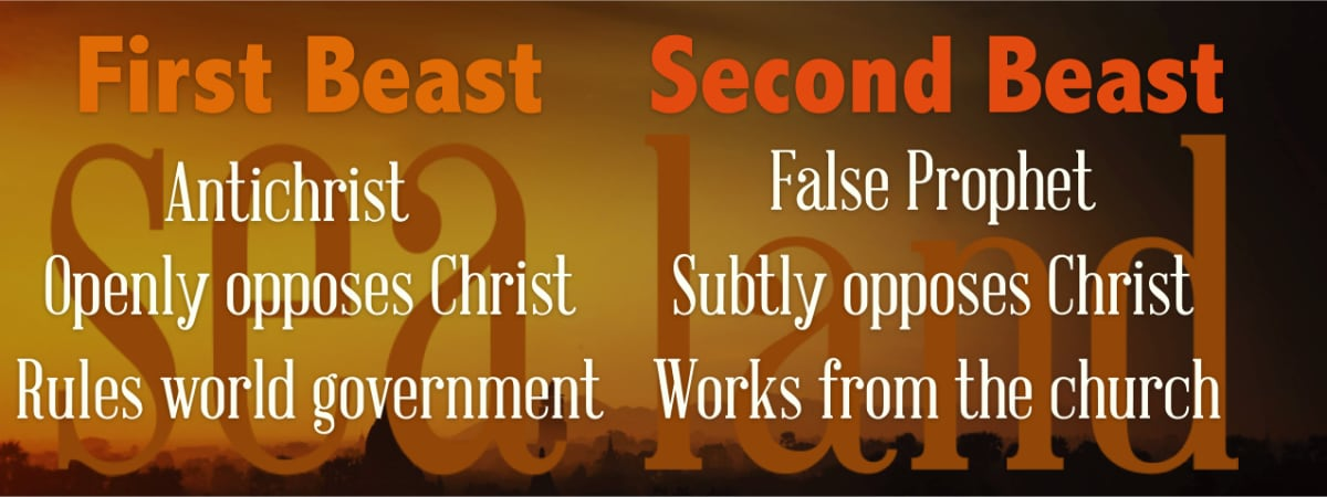 Descriptions of the First and Second beasts of Revelation 13