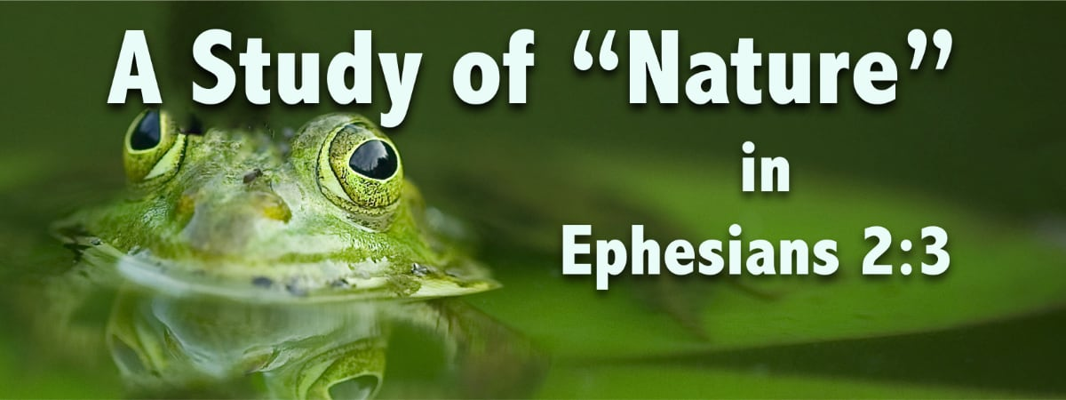 """A Study of """"Nature"""" from Ephesians 2:3"""