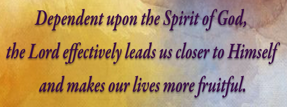 Dependent upon the Spirit of God, the Lord effectively leads us closer to Himself and makes our lives more fruitful.