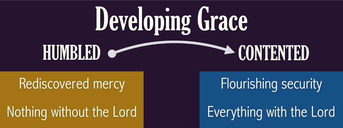 Our appreciation of God's grace develops as we humble our hearts and find abounding contentment.