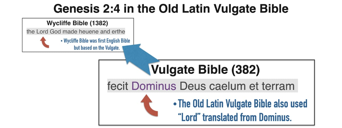 The Vulgate's influence upon the Wycliffe Bible