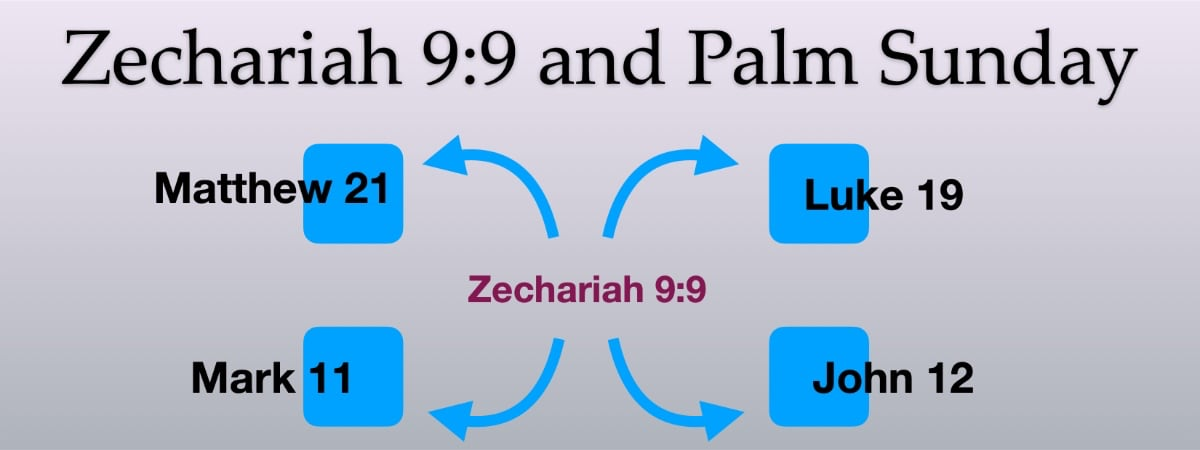 Zechariah 9:9 and Palm Sunday and the Gospels