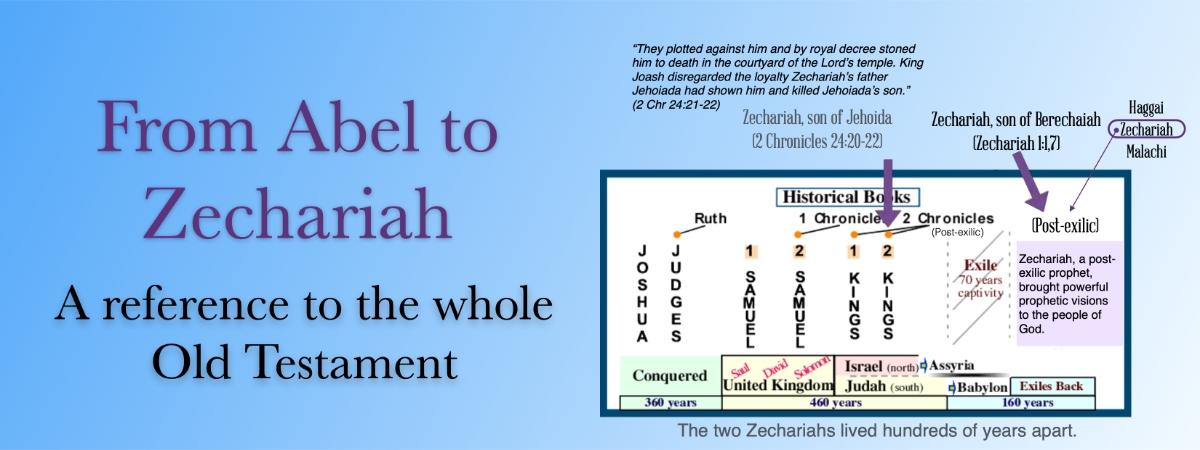 Old Testament chronological portrait of two Zechariahs
