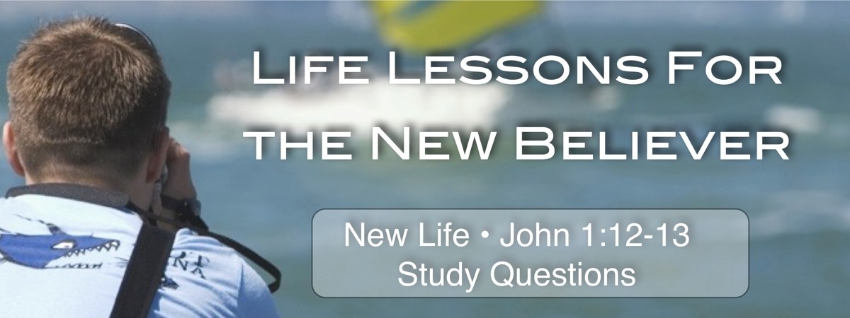 Life Lessons: John 1:12-13 describes how a person is saved