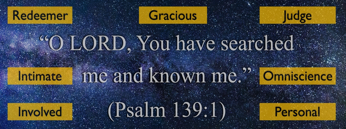 The attributes of God seen in Psalm 139:1