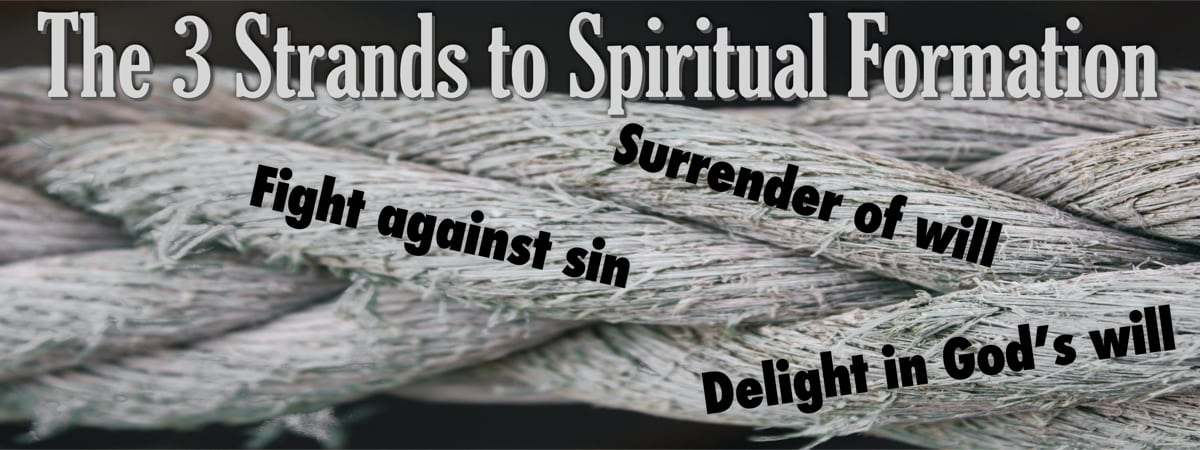 The strands to a rope illustrate the three phases of spiritual growth.
