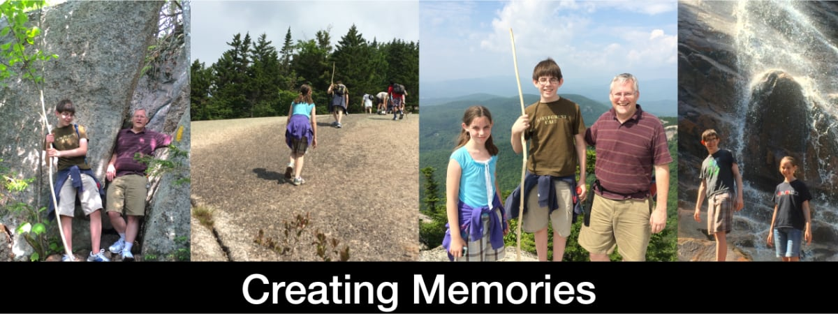 Created hiking memories  with my children in the White Mountains