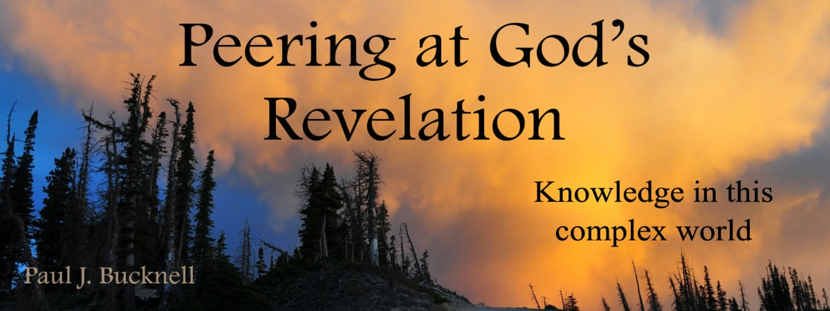 Peering at God's Revelation - a new series