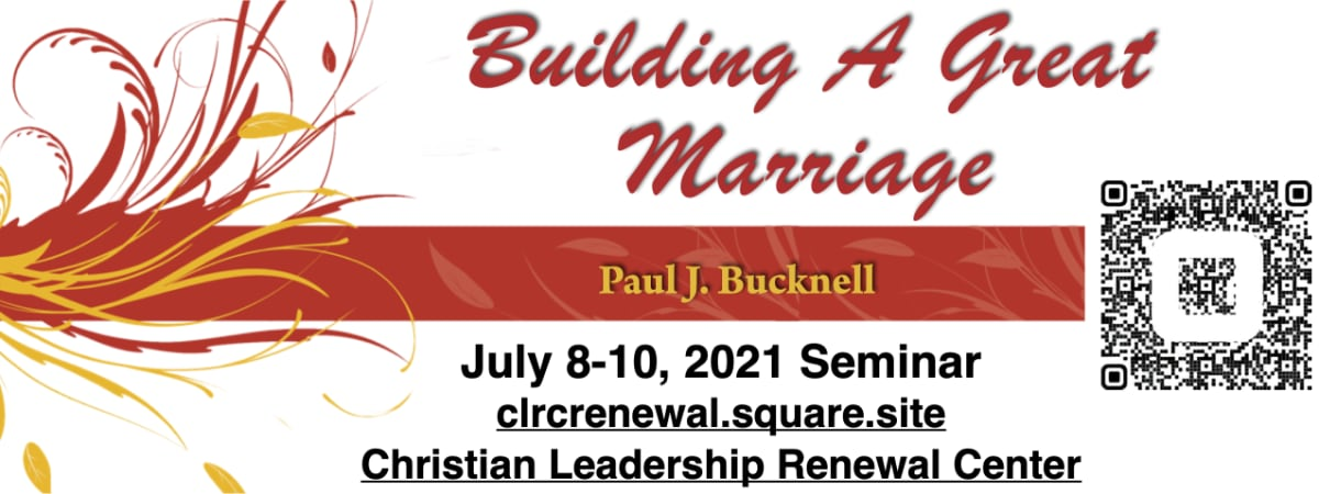 Consider attending our Building a Great Marriage seminar! (Christian ministry couples only)